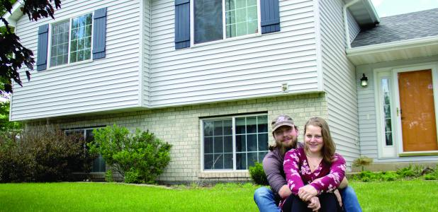 Coltan Stein-Tronnier and Marianne Aras recently bought a home in Kasson after a six-month search.