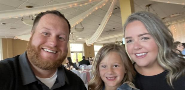 Ryan Christensen is seen with his daughter, Nora, and wife Angela. Christensen is the Kasson City Council's newest member.